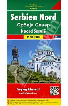 Сербия Северная. Карта. Serbia north 1:200000