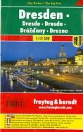 Дрезден. Картапокет ламинированная 1: 12 500