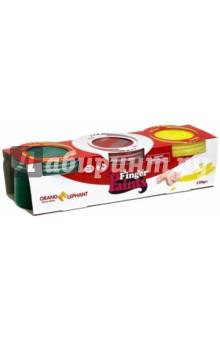 Купить Набор красок пальчиковых, 3 цвета по 130мл (OE-FFP/3) ISBN: 6952358309042