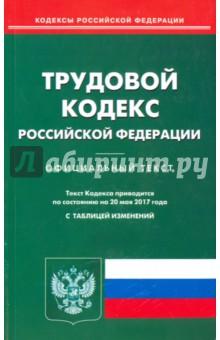 Трудовой кодекс Российской Федерации по состоянию на 20.05.17 г.