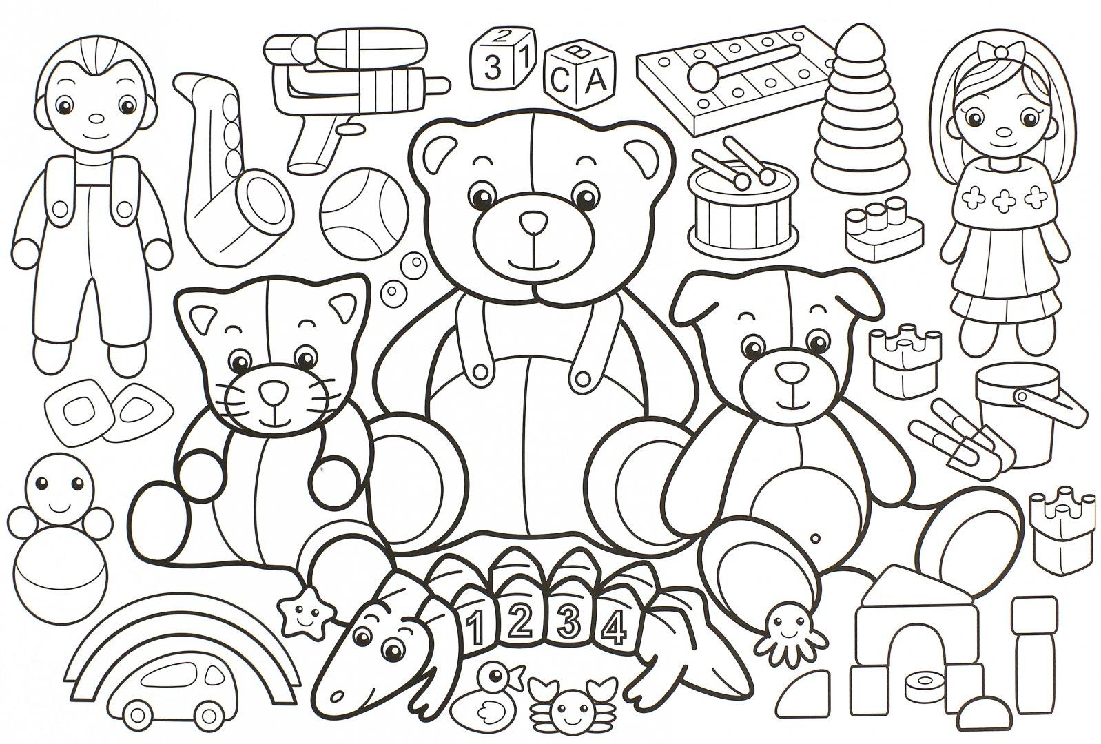 Рисунок магазин игрушек карандашом