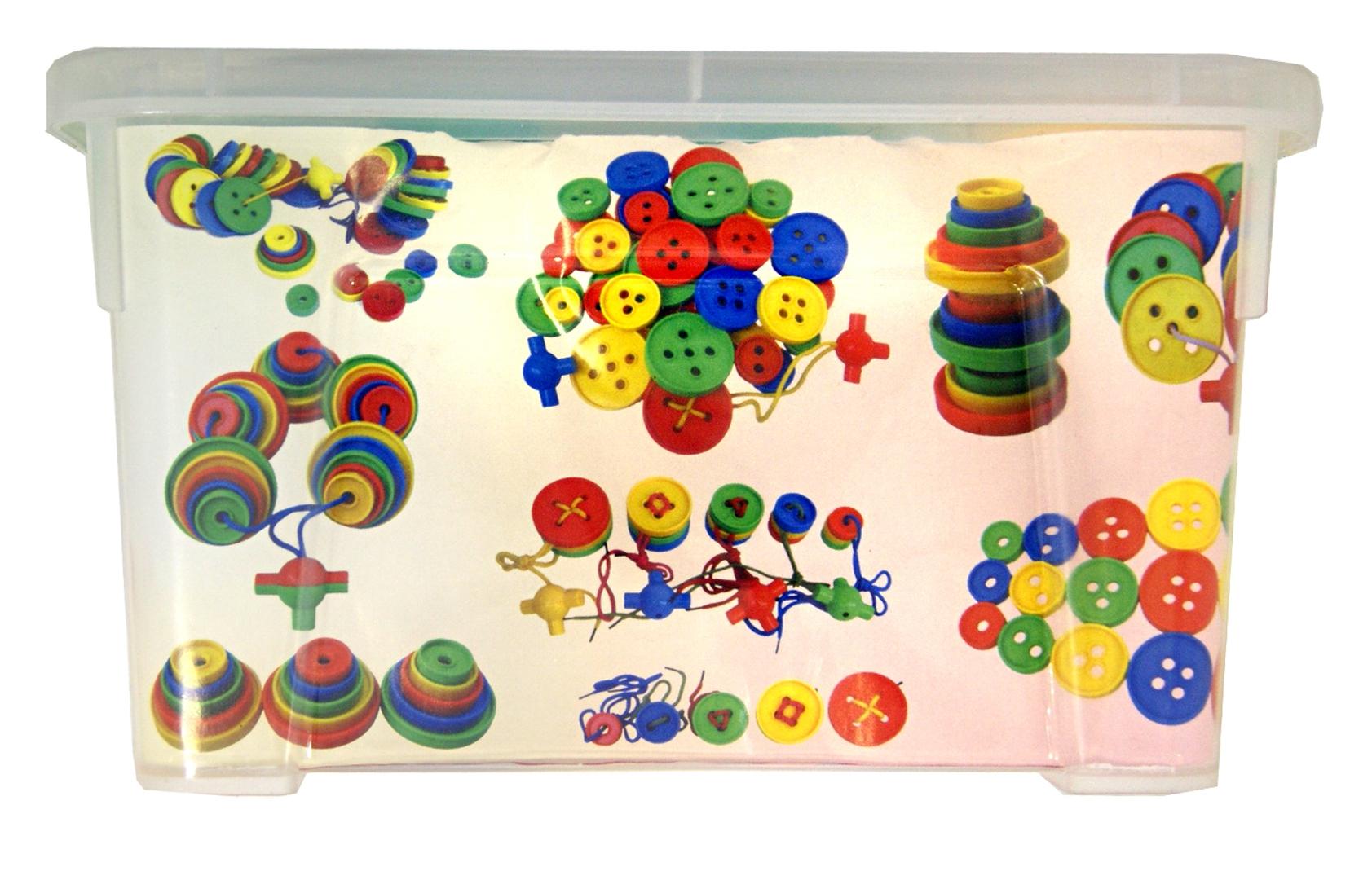 Иллюстрация 1 из 12 для Пуговицы для маленьких ручек. Контейнер   Лабиринт - игрушки. Источник: Лабиринт