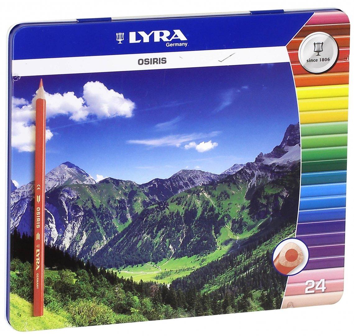 Иллюстрация 1 из 8 для Карандаши цветные в металлической коробке (24 цвета) (2521253) | Лабиринт - канцтовы. Источник: Лабиринт