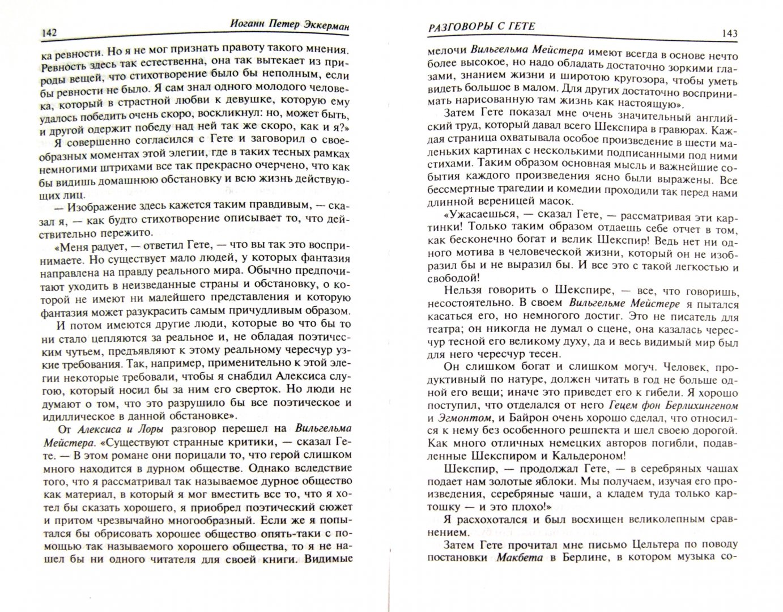 Иллюстрация 1 из 8 для Разговоры с Гете - Иоганн Эккерман   Лабиринт - книги. Источник: Лабиринт