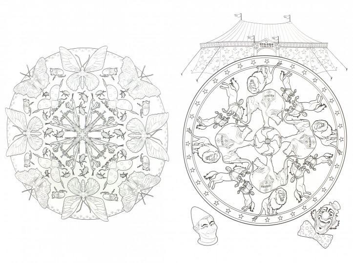 цветочные мандалы раскраска антистресс для творчества и вдохновения