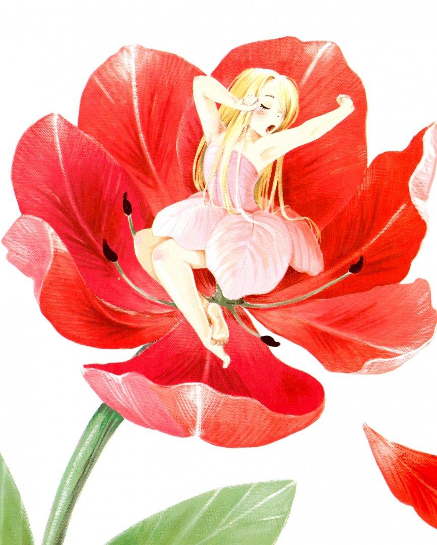 картинка дюймовочка на цветке на прозрачном фоне отличное место