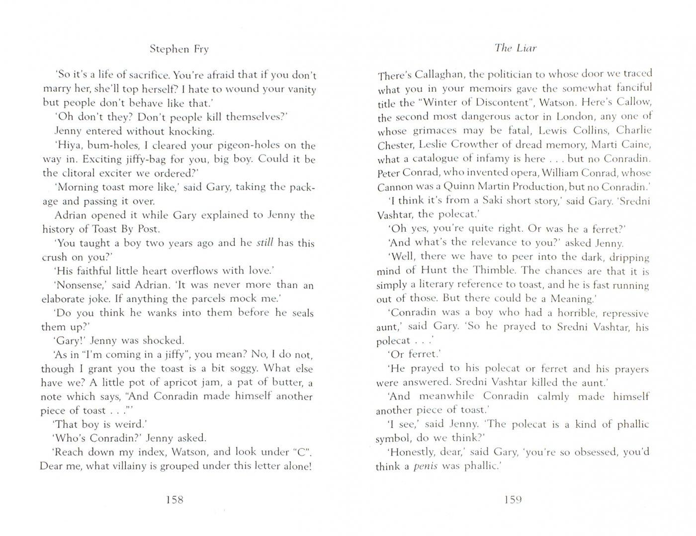 Иллюстрация 1 из 10 для The Liar - Stephen Fry   Лабиринт - книги. Источник: Лабиринт