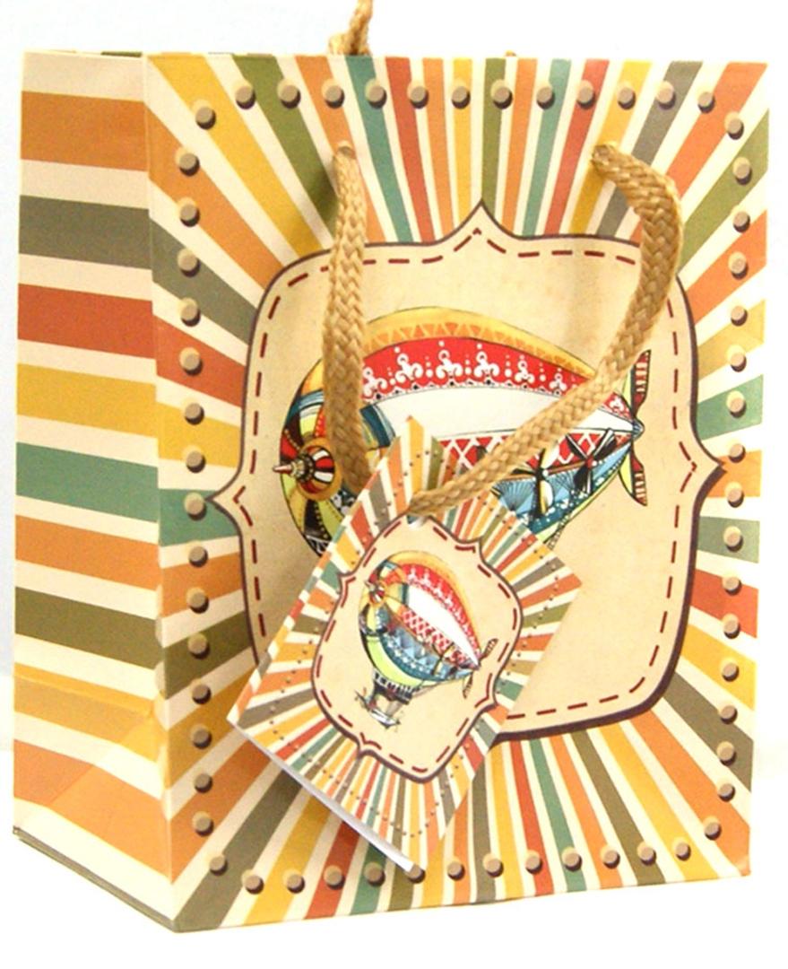 """Иллюстрация 1 из 5 для Пакет бумажный """"Дирижабль"""" 11.1*13.7*6.2 см (35921)   Лабиринт - сувениры. Источник: Лабиринт"""