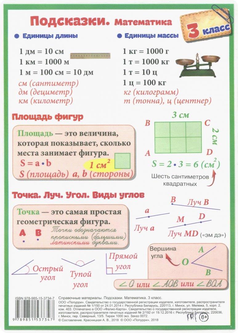 Картинки математические правила