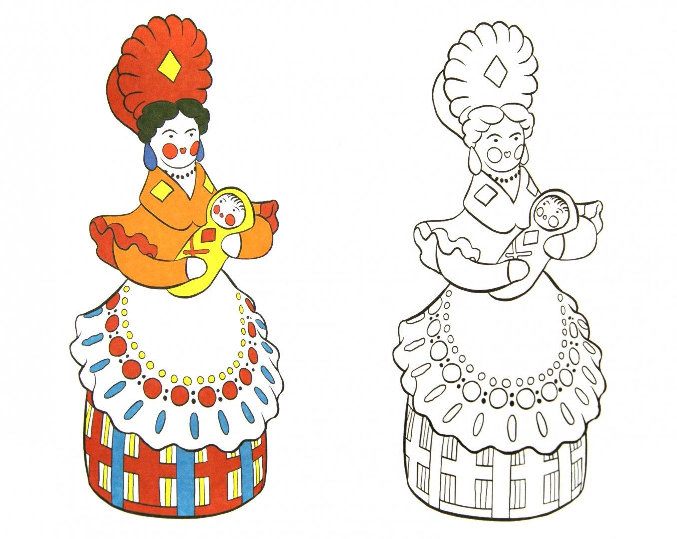 анекдоты дымковская роспись картинки раскраски распечатать раскраску