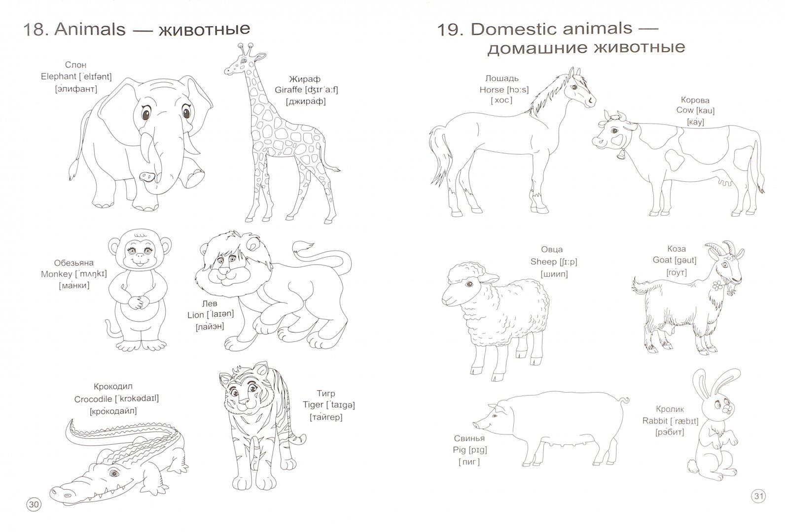 Занимательный английский для детей картинки с пояснением распечатать