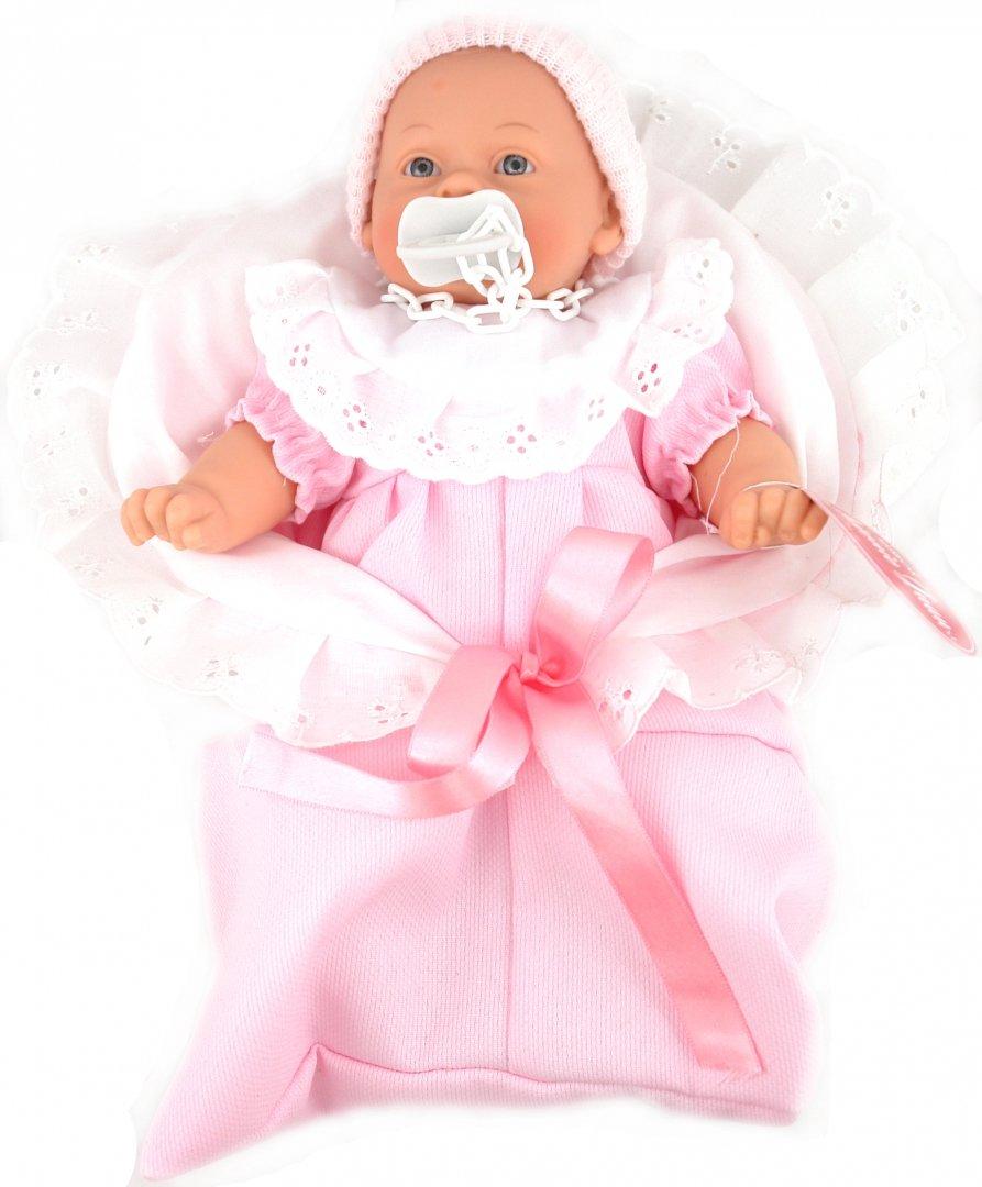 Иллюстрация 1 из 2 для Кукла-младенец Мило в розовом, плачет (26 см) (4406Р) | Лабиринт - игрушки. Источник: Лабиринт