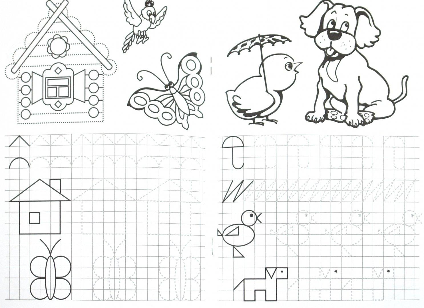Иллюстрация 1 из 31 для Прописи. Начинаем рисовать по клеточкам - М. Гавриленко | Лабиринт - книги. Источник: Лабиринт