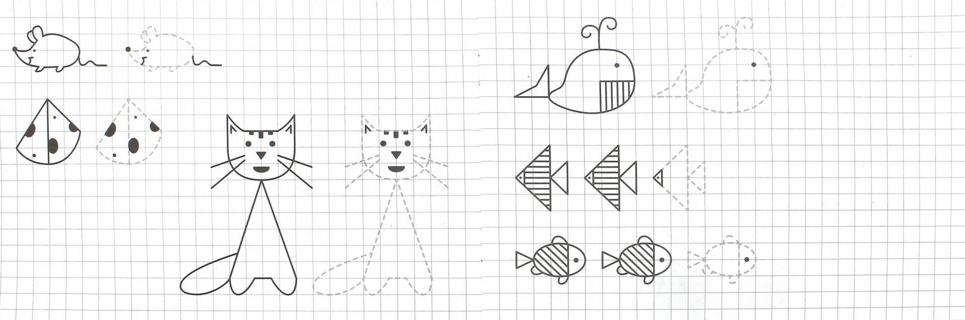 Иллюстрация 1 из 21 для Прописи. Рисуем по клеточкам - И. Попова | Лабиринт - книги. Источник: Лабиринт