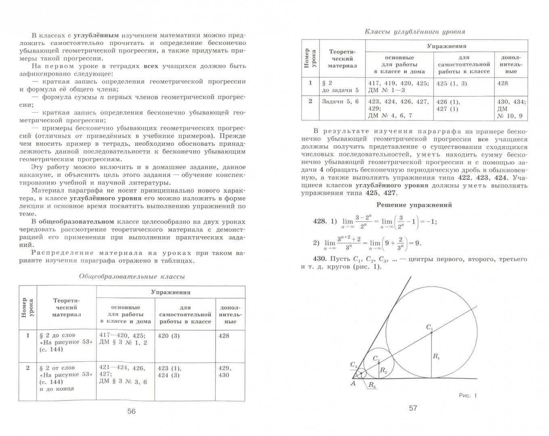 Иллюстрация 1 из 5 для Алгебра и начала математического анализа. 10 класс. Методические рекомендации. Пособие для учителей - Федорова, Ткачева   Лабиринт - книги. Источник: Лабиринт