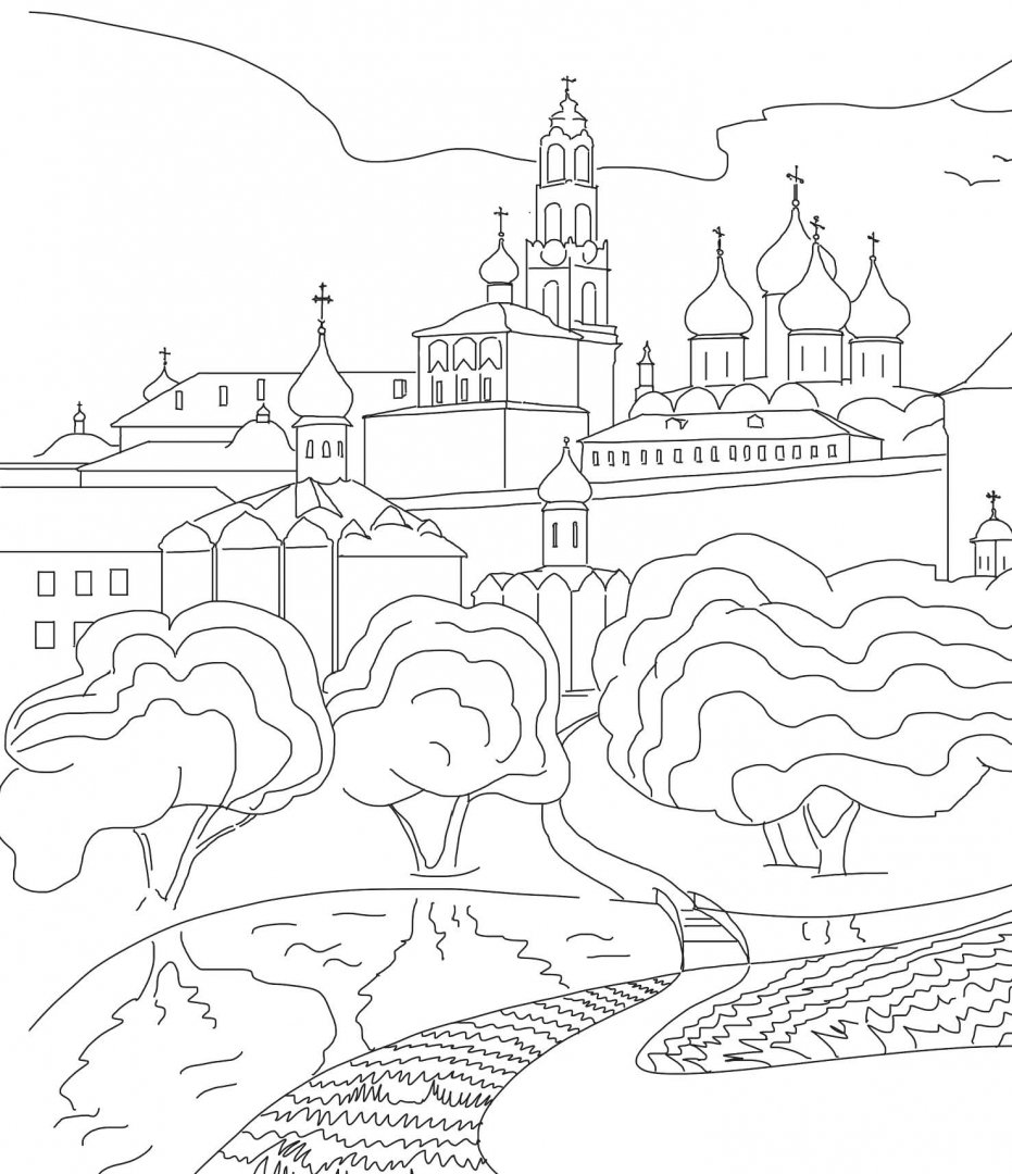 Раскраска день города серпухова