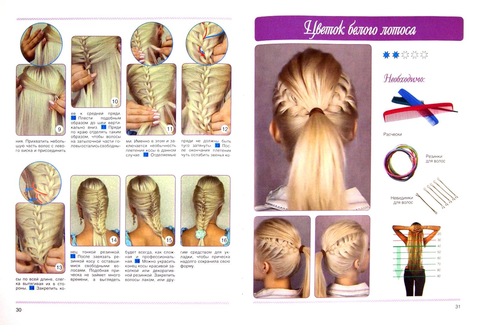 картинки пошаговое плетение из волос свою