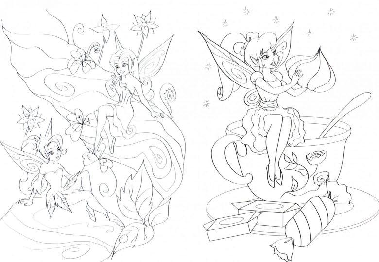 раскраска волшебные феи