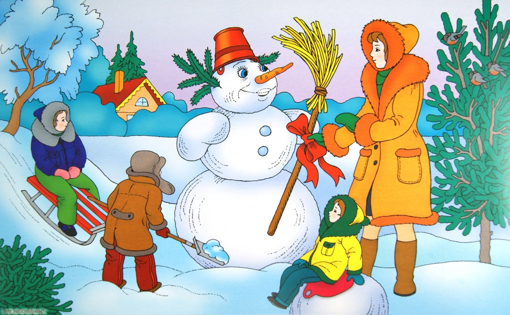 Стихотворение про зиму с картинками ростове