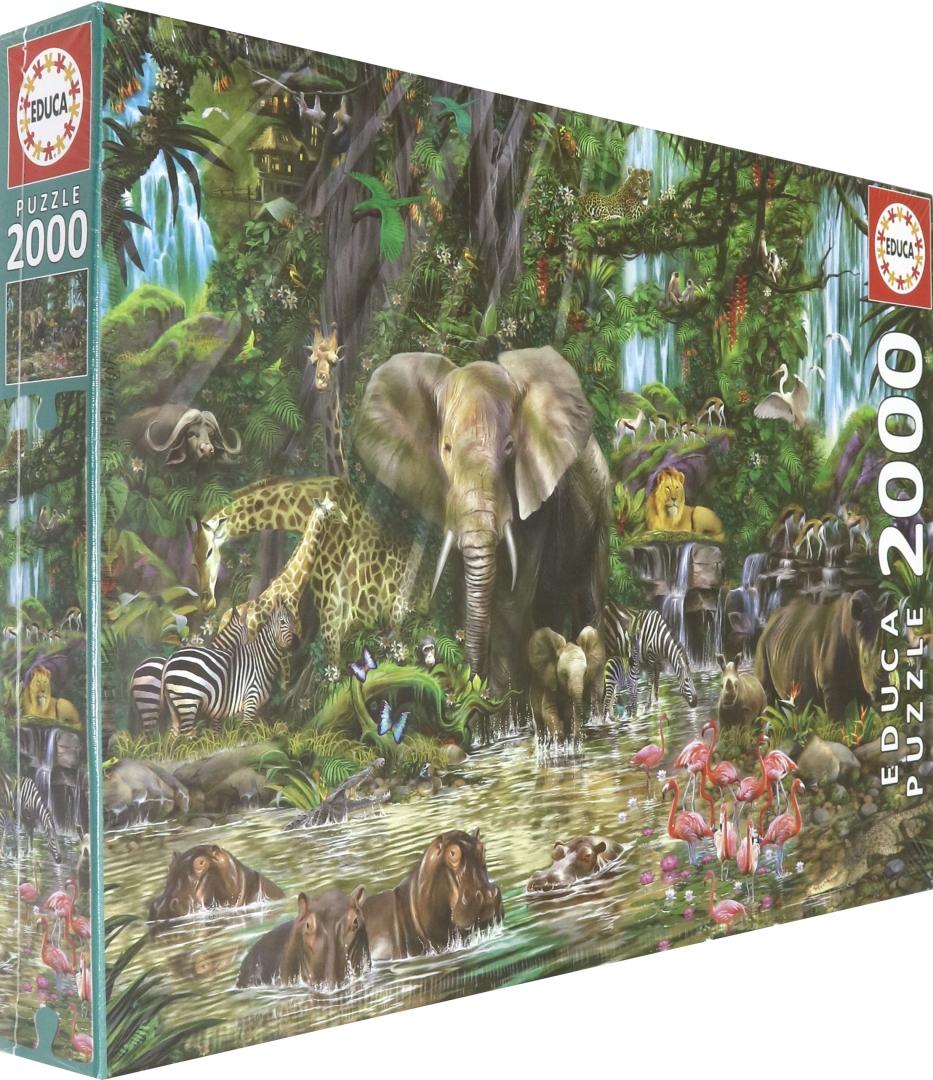 """Иллюстрация 1 из 6 для Пазл-2000 """"Африканские джунгли"""" (16013)   Лабиринт - игрушки. Источник: Лабиринт"""