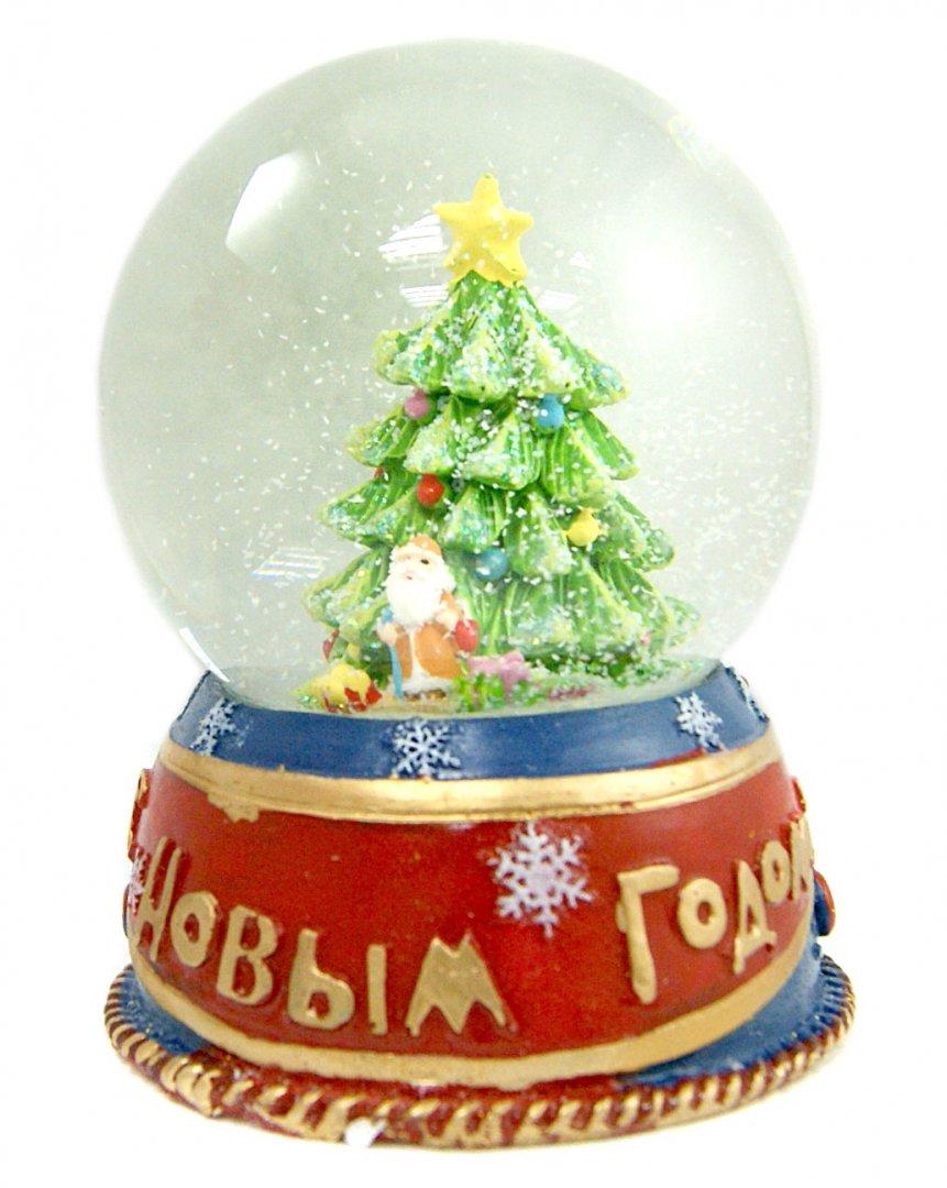 Иллюстрация 1 из 2 для Фигурка новогодняя с водяным шаром (35238) | Лабиринт - сувениры. Источник: Лабиринт