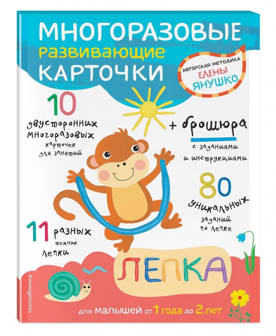 Иллюстрация 1 из 67 для Многоразовые развивающие карточки. Лепка для малышей от 1 года до 2 лет - Елена Янушко   Лабиринт - игрушки. Источник: Лабиринт