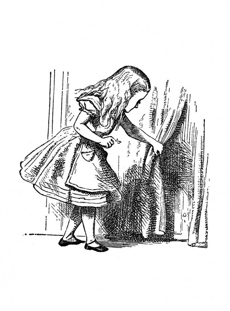 иллюстрации джона тенниела к алисе в стране чудес один