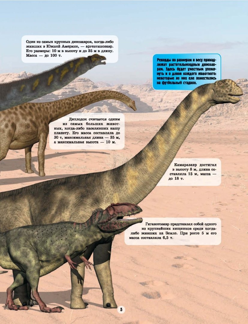 Справочник динозавров с картинками