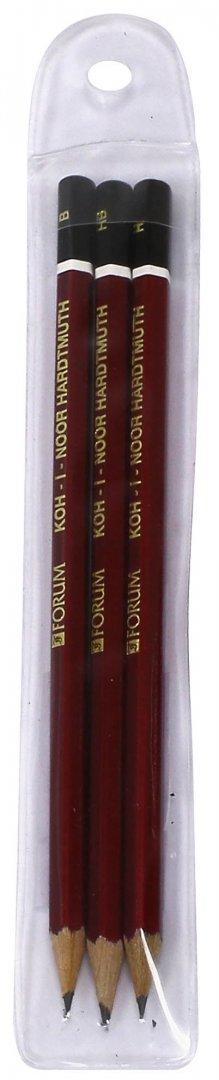 Иллюстрация 1 из 6 для Карандаши чернографитные разной твердости (3 шт.) (1770/3)   Лабиринт - канцтовы. Источник: Лабиринт