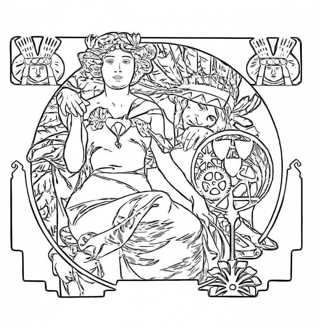 Иллюстрация 5 из 14 для Волшебный модерн. Арт-терапия для ...