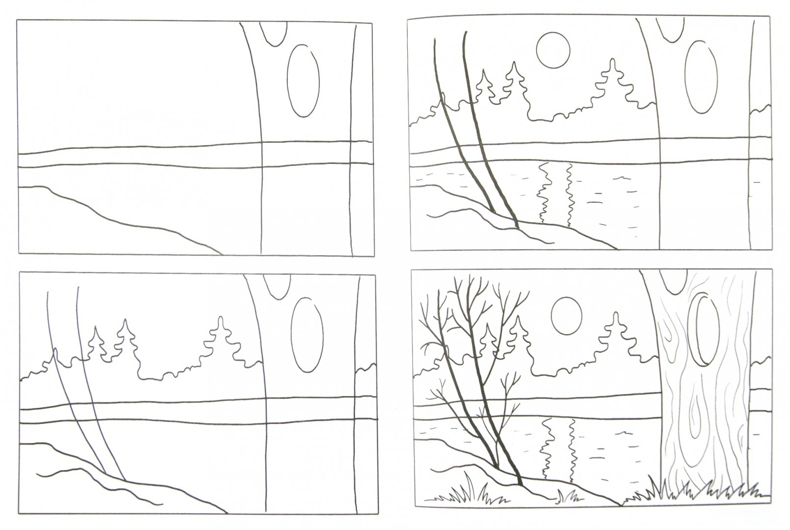 весна картинки рисовать поэтапно хорошей