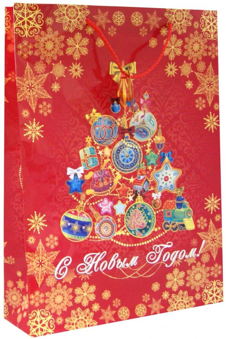 Иллюстрация 1 из 2 для Пакет бумажный новогодний (33х46х10 см) (35245) | Лабиринт - сувениры. Источник: Лабиринт