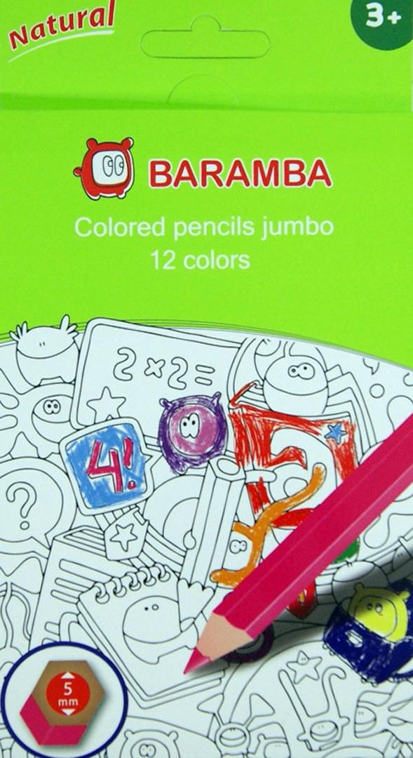 Иллюстрация 1 из 2 для Карандаши 12 цветов утолщенные (B33340/Р) | Лабиринт - канцтовы. Источник: Лабиринт
