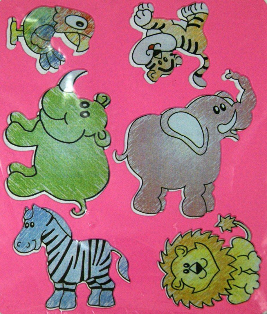 """Иллюстрация 1 из 3 для Трафарет фигурный """"Веселые зверята"""" (10С 530-08)   Лабиринт - игрушки. Источник: Лабиринт"""