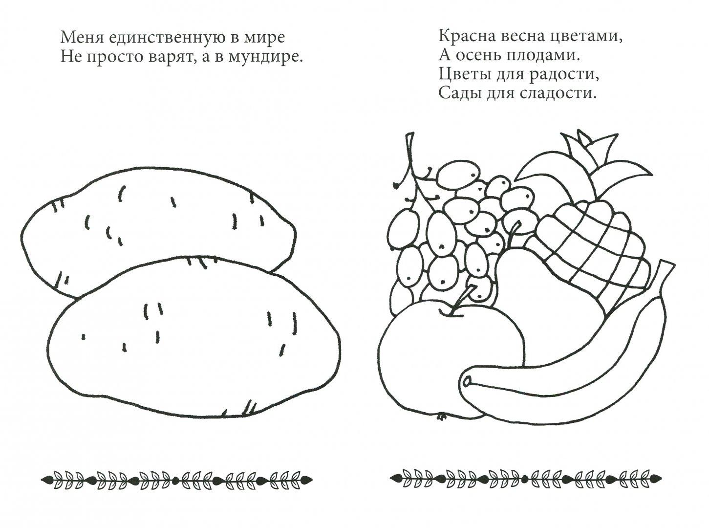"""Иллюстрация 1 из 1 для Раскраска для малышей """"Овощи и ..."""