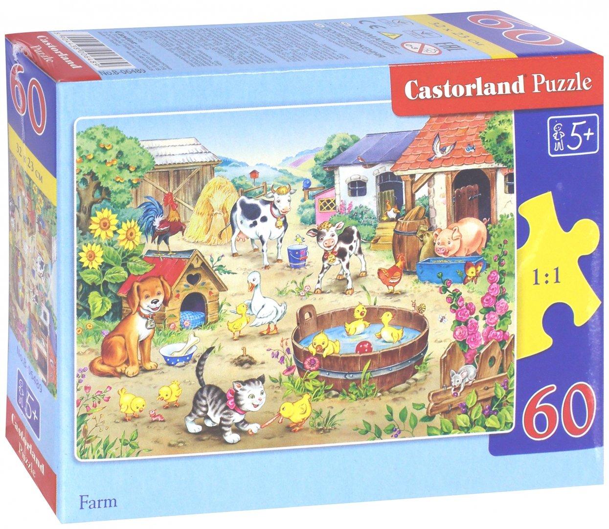 """Иллюстрация 1 из 15 для Puzzle-60 MIDI """"Ферма"""" (В-06489)   Лабиринт - игрушки. Источник: Лабиринт"""