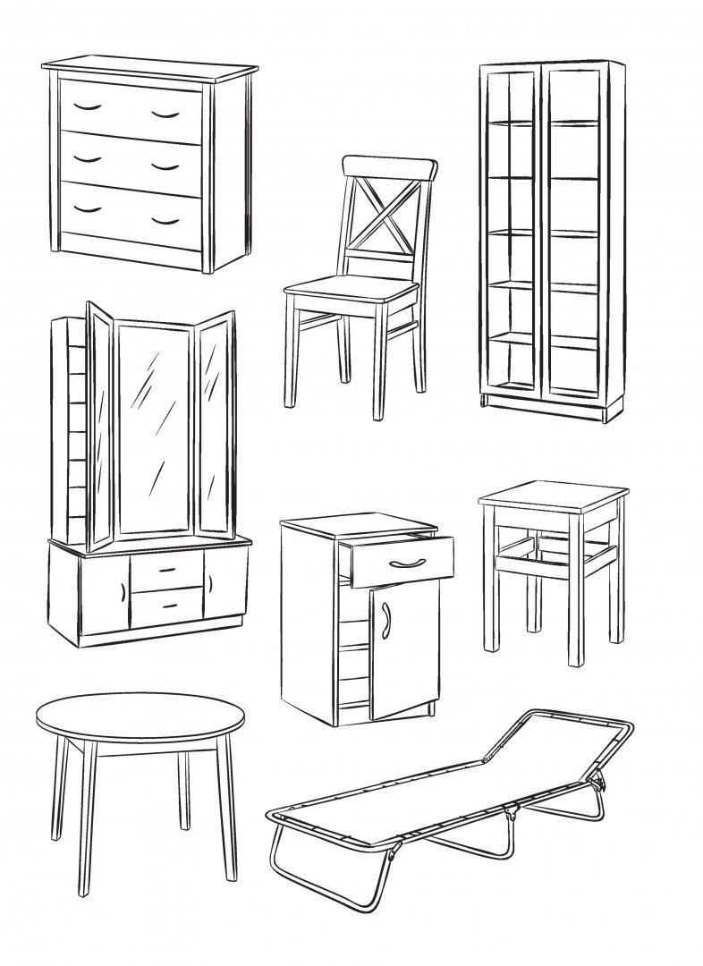 Детские рисунки мебель